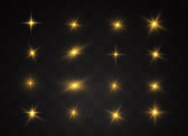 Set di sfondo stella luminosa