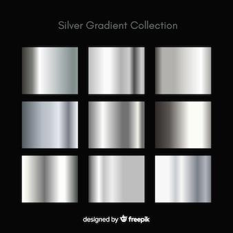 Set di sfumatura argento texture metallica