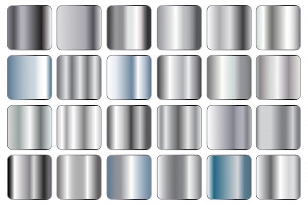 Set di sfumature d'argento