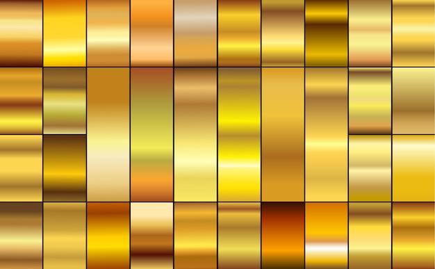 Set di sfumature dorate