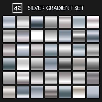 Set di sfumature metalliche argento