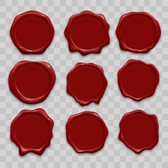 Set di sigilli di cera per timbri