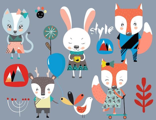 Set di simpatici animaletti