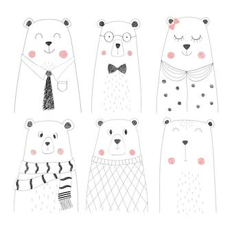 Set di simpatico orso