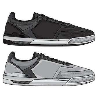 Set di sneaker in bianco e nero