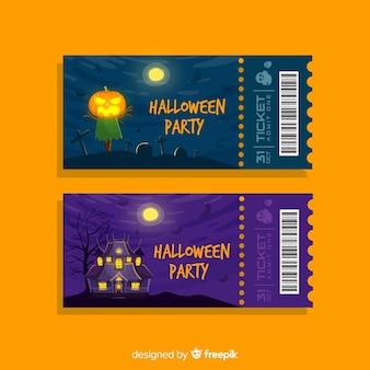 Set di spettrali biglietti per feste di halloween