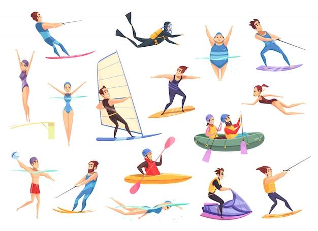 Set di sport acquatici