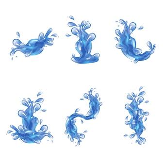 Set di spruzzi d'acqua