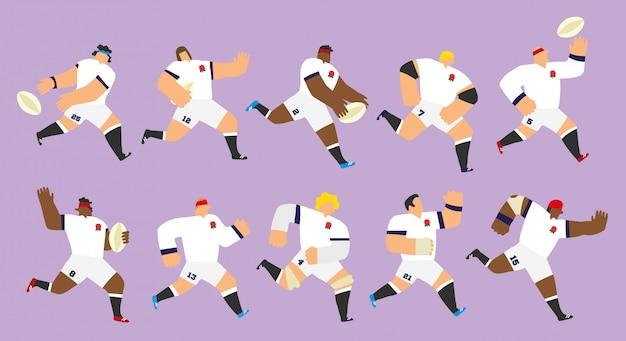 Set di squadre di rugby dell'inghilterra