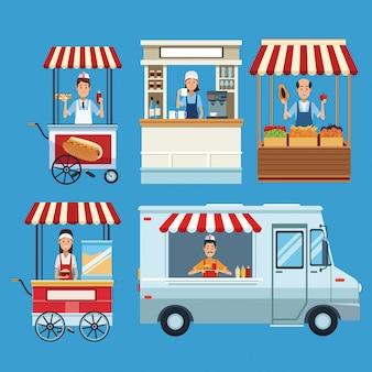 Set di stand gastronomici