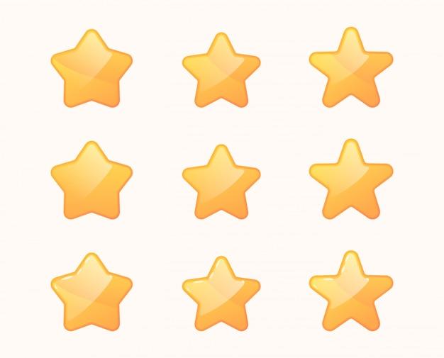 Set di stelle del cartone animato.