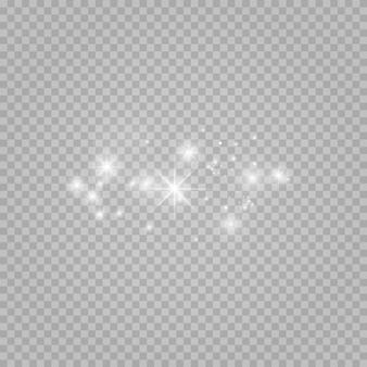 Set di stelle su uno sfondo bianco e grigio trasparente su una scacchiera.