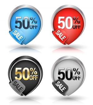 Set di stile puntatore banner vendita