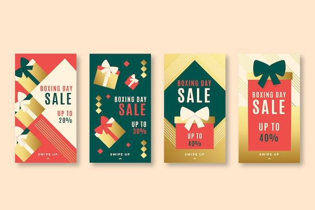 Set di storia di instagram di vendita di santo stefano