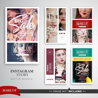 Set di storie di instagram di make up