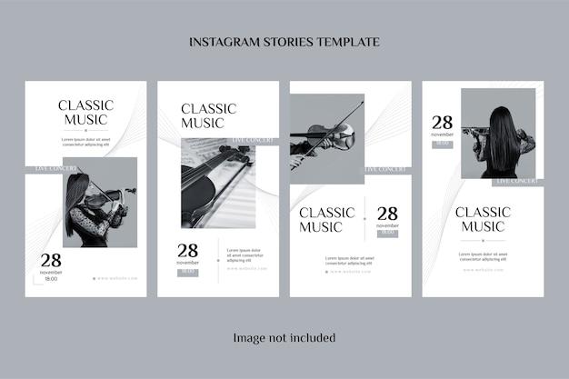 Set di storie di instagram di musica classica