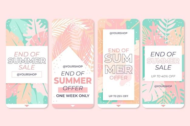 Set di storie di vendita di fine estate