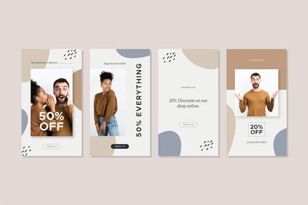 Set di storie di vendita di moda creativa