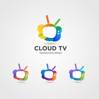 Set di stream now logo disponibile in vettoriale / illustrazione