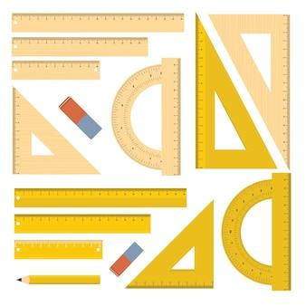 Set di strumenti di cancelleria del righello