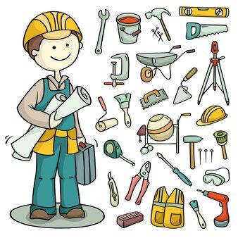Set di strumenti di costruzione e operativi
