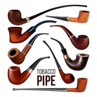 Set di strumenti di fumo di legno d'annata dei tubi di tabacco