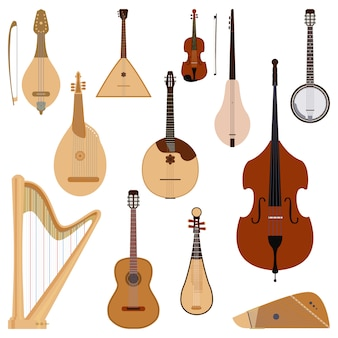 Set di strumenti musicali a corda