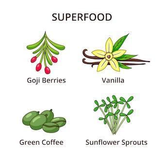 Set di super alimenti freschi