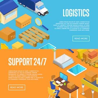 Set di supporto per la consegna 24/7 e logistica di magazzino
