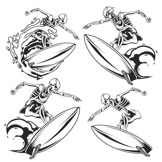 Set di surfisti