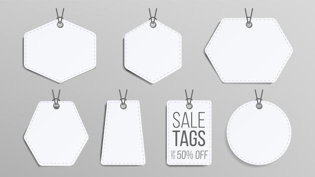 Set di tag di vendita in bianco