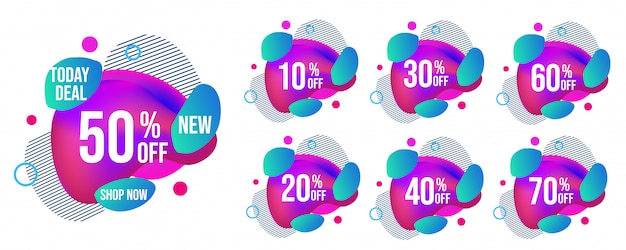 Set di tag di vendita moderna