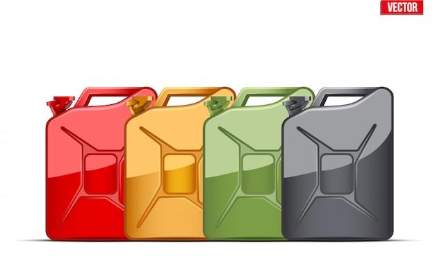 Set di tanica contenitore carburante. tanica per benzina.