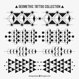 Set di tatuaggi di forme geometriche