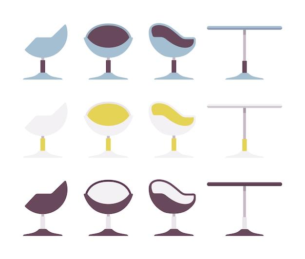 Set di tavolino da caffè e sedia