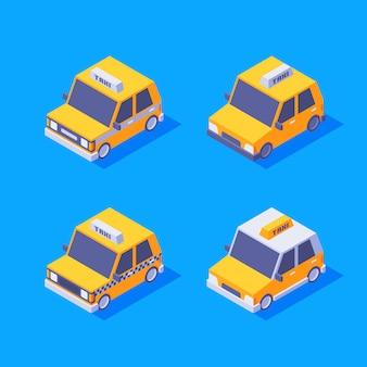Set di taxi isometrici