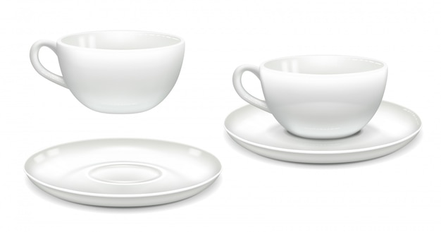 Set di tazze bianche