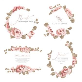 Set di telaio con rose.