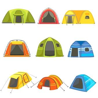 Set di tende colorate telone