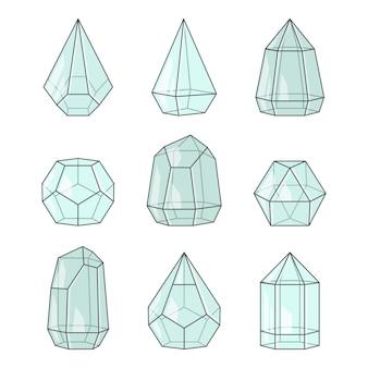 Set di terrari di vetro per piante succulente