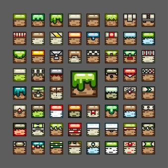 Set di tessere con linea spessa per videogiochi