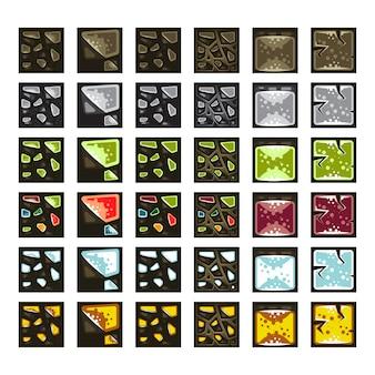 Set di tessere old school per videogiochi