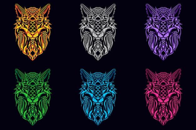 Set di testa di lupo