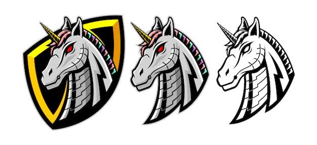 Set di testa di unicorno