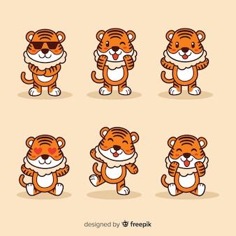 Set di tigre carino