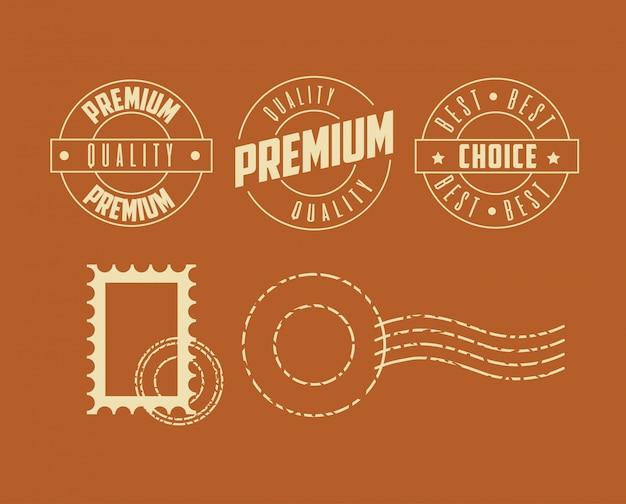 Set di timbri di qualità premium