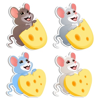 Set di topolino con formaggio