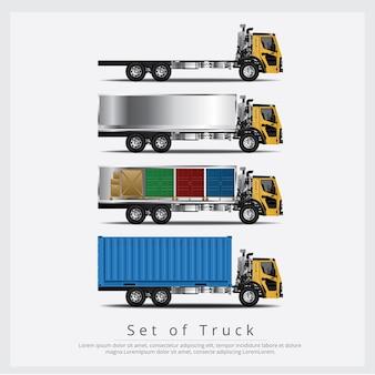 Set di trasporto camion carichi