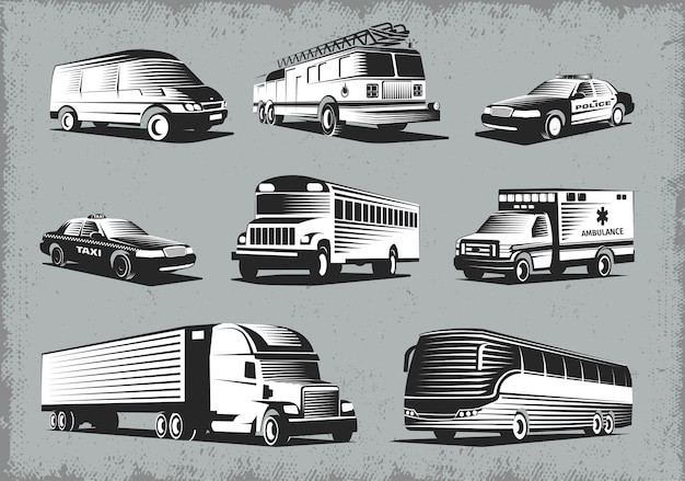 Set di trasporto in stile retrò