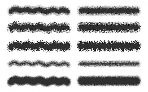 Set di tratti di spray nero